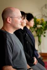 People meditating together