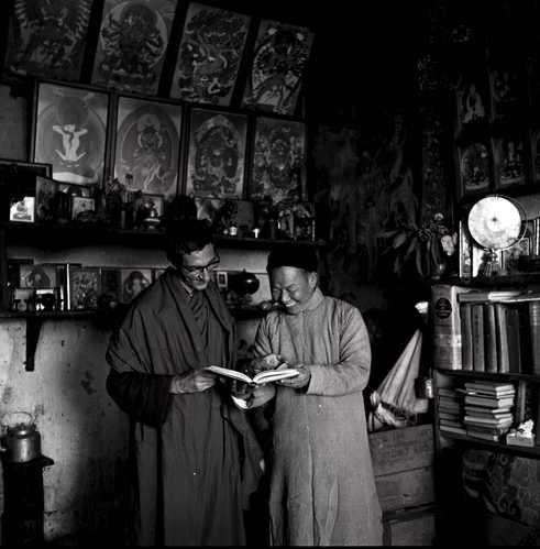 Sangharakshita & one of his Buddhist teachers Yogi Chen