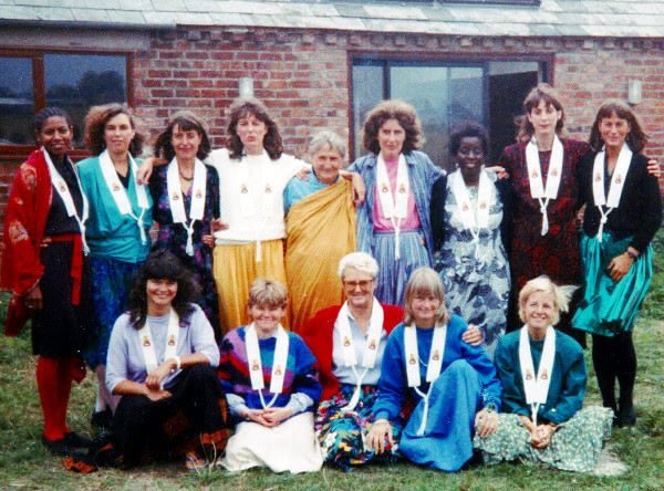 First Triratna ordinations of women by women