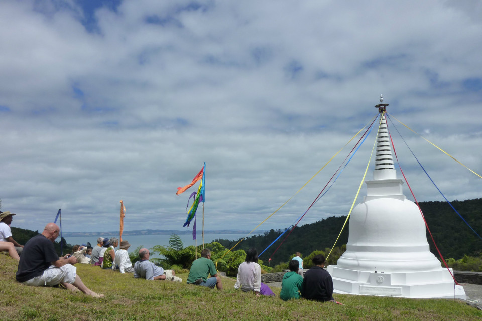 Stupa with people