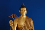 Buddha holding a lotus