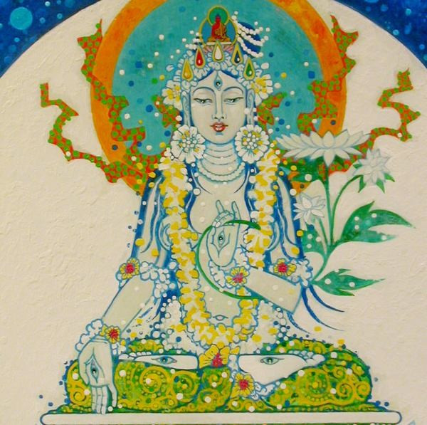 bodhisattva white tara aloka unknown